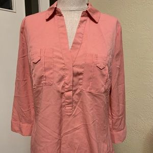 dynamite blouse with zipper accents